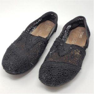 TOMS | Black Crochet Shoes